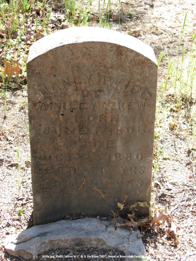 Cemeteries of Henry County Tennessee :: Ralls Cemetery